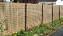 lamelles sur clôture